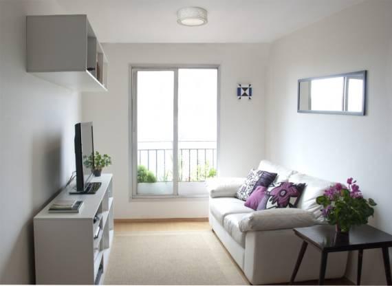 Fotos de salas decoradas clean, pequenas e simples
