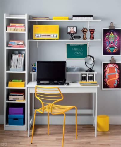 Ideias de decoração moderna e simples para home office