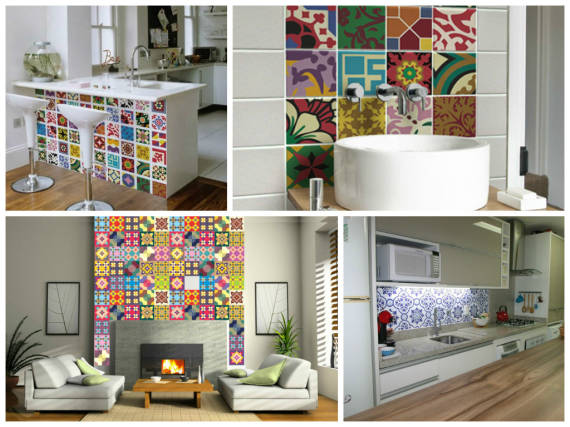 decoração de casas simples com adesivos