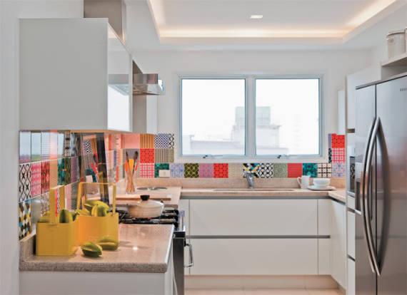 Decoração de Cozinha Simples Colorida