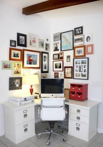 Decora o de home office 50 dicas valiosas e fotos - Office storage ideas small spaces concept ...