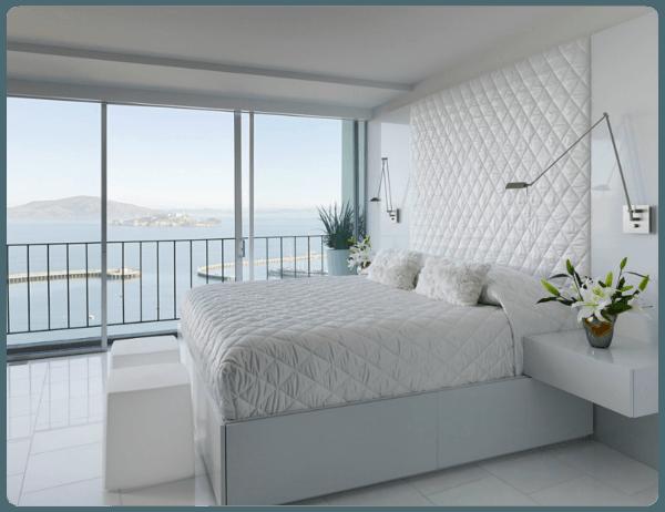 Fotos de quartos de casal branquinhos decorados