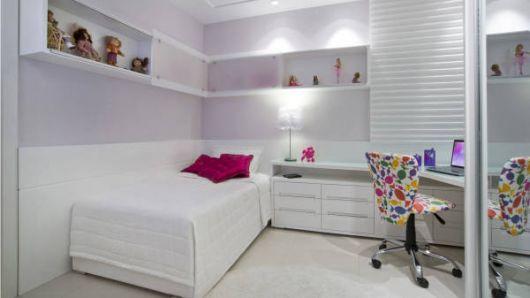 Fotos de quartos infantis de solteiro decorados clean