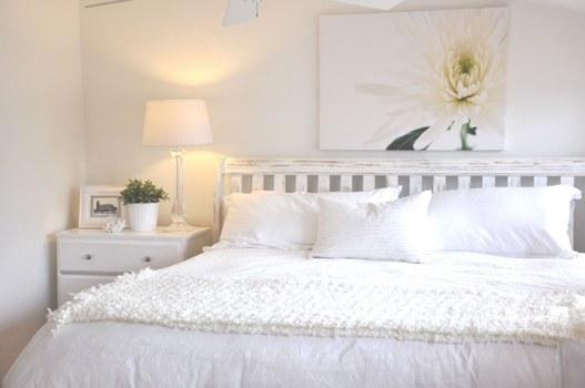 Ideias de Decoração clean para quarto de casal com pouco espaço
