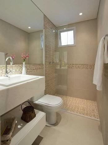 Fotos de banheiros com Decoração clean