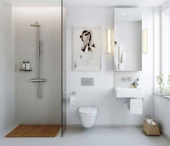 Acabamentos modernos para banheiro clean