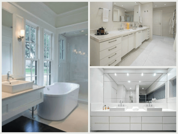 TOP 50 Decoração Clean Como fazer, Dicas e Fotos! -> Decoracao Banheiro Clean
