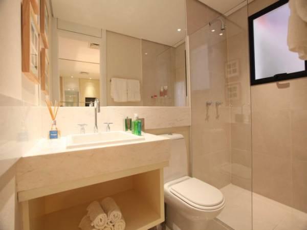 Fotos de banheiro clean com bancada de mármore