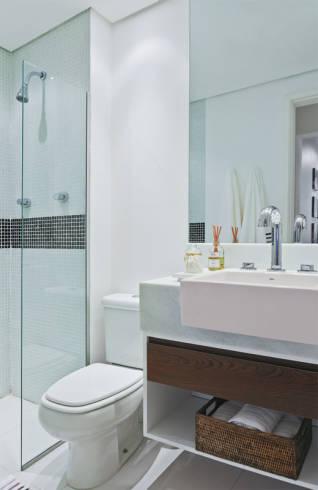 Decoração clean para banheiros modernos