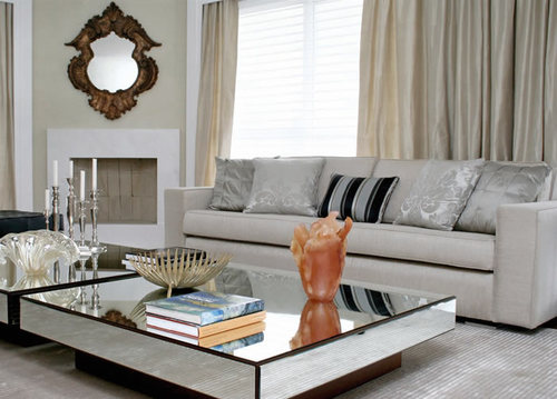 Top 50 decora o com espelhos modelos dicas e fotos for Sala de estar larga