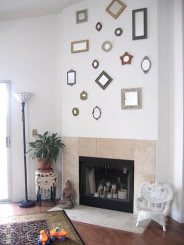 Fotos de paredes com espelhos pequenos