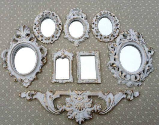 Fotos de Decoração com espelhos provençais no quarto