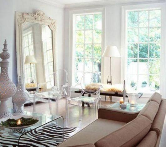Fotos de casas modernas clean com espelhos decorativos