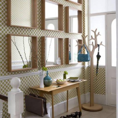 Como decorar hall de entrada com espelhos