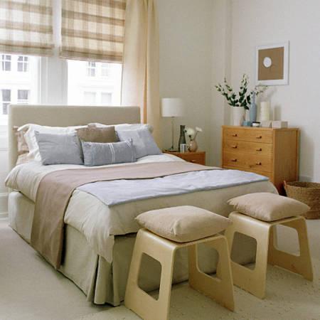 Imagens de Decoração de quarto de casal simples bege