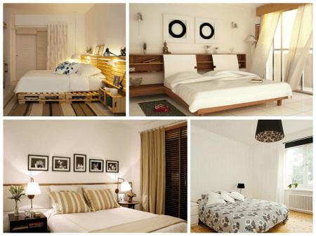 Dicas de Decoração de quarto de casal simples e barata para fazer em casa