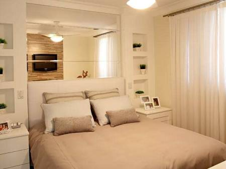 Cores para Decoração de quarto de casal simples e clean