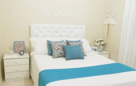 Fotos de quarto de casal simples provençal
