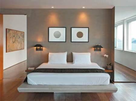 45 fotos e ideias de decora o de quarto de casal simples for Quadros dormitorio