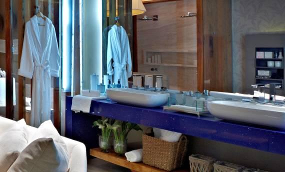 Dicas de cores de silestone para bancada de banheiro azul masculina