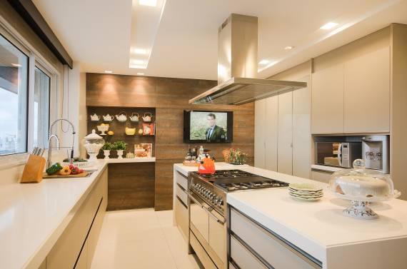 Fotos de Decoração clean para cozinha com amadeirado