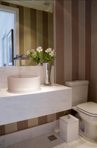Sugestões de decoração para lavabo pequeno