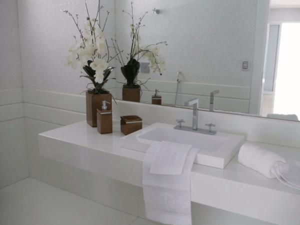 decoração de lavabo clean - dicas