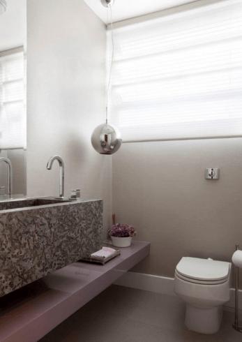 Ideias de decoração de lavabo moderno e clean