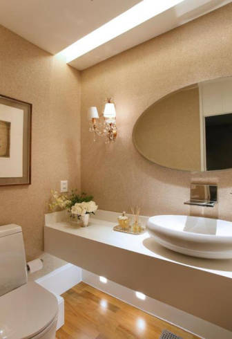 Dicas de bancadas e espelhos para lavabos decorados