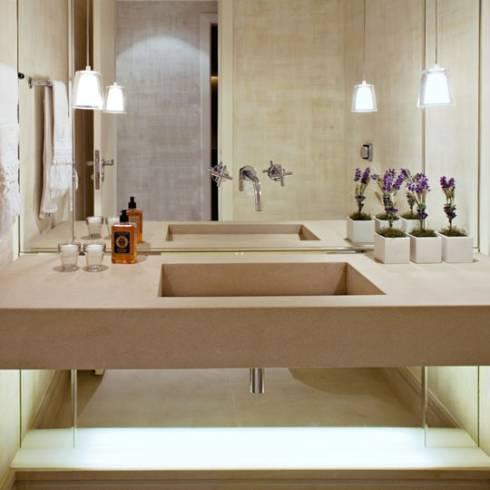 Fotos de cubas esculpidas para lavabos pequenos