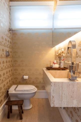 Fotos de lavabos decorados bege e branco