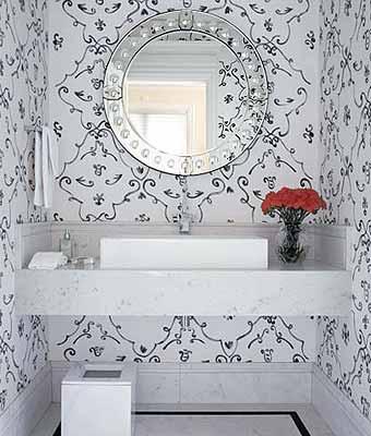 Fotos de lavabos pequenos decorados com cores claras