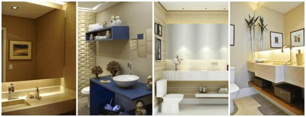 Imagens de lavabos decorados pequenos e embaixo da escada