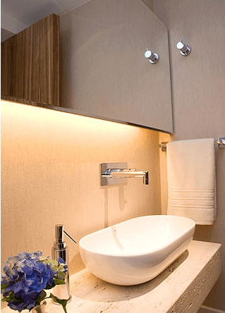 Fotos de lavabos decorados com bancada de mármore