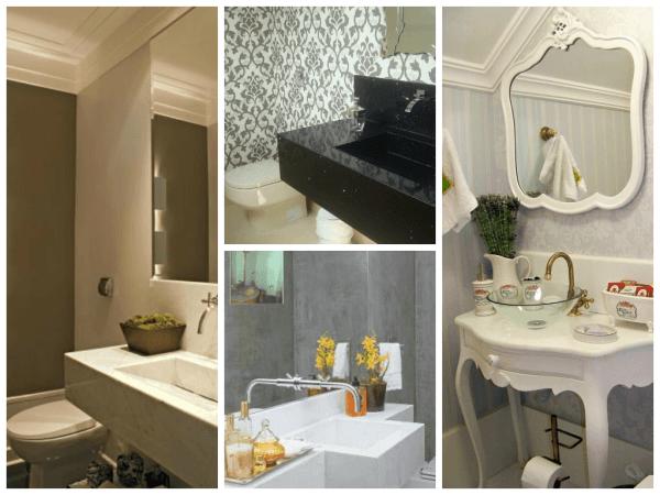 Ideias originais para lavabos decorados personalizados