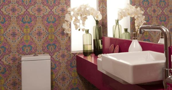 Fotos de lavabos decorados com bancada de silestone