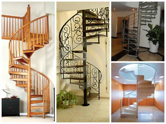 Fotos de escada caracol para casa pequena