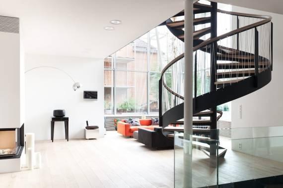 Modelos de escadas espiral modernas - como fazer