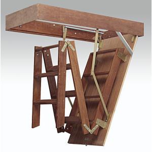 Tipos de escadas de sótão retráteis de madeira - preço