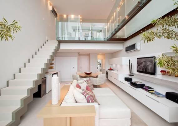 Fotos de escadas lindas e modernas em cascata