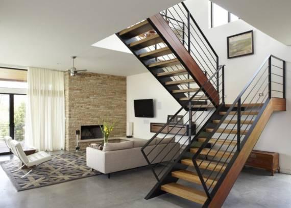 Modelos tradicionais de escada interna em U - como fazer