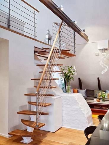 Tipos de escadas ideais para espaço pequeno