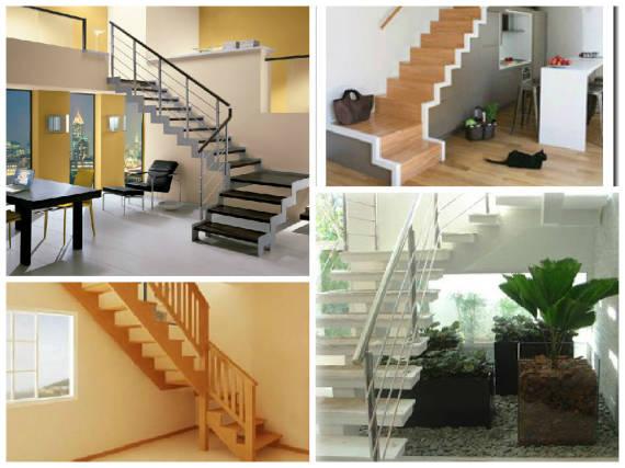 Imagens de projetos de escadas em L