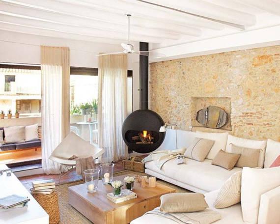 50 modelos de lareiras tipos vantagens desvantagens - Salones de casas rusticas ...