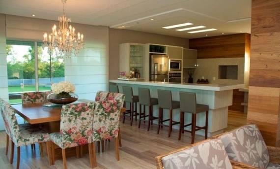 Lustre Para Sala De Jantar Grande ~ de acrílico é sempre uma ótima opção, já que esse tipo de lustre