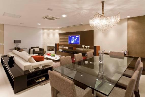 Posso Colocar Tv Na Sala De Jantar ~  lustre (como na foto), aumenta a ideia de amplitude do ambiente
