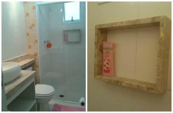 NICHO PARA BANHEIRO Como Fazer, Fotos e Dicas -> Nicho Para Banheiro Embutido