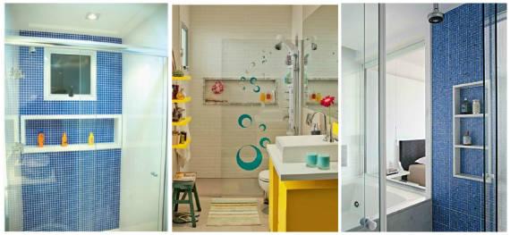 NICHO PARA BANHEIRO Como Fazer, Fotos e Dicas -> Nicho Banheiro Altura