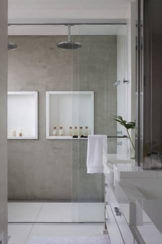 Nicho para banheiro como fazer fotos e dicas for Placa duchas modernas
