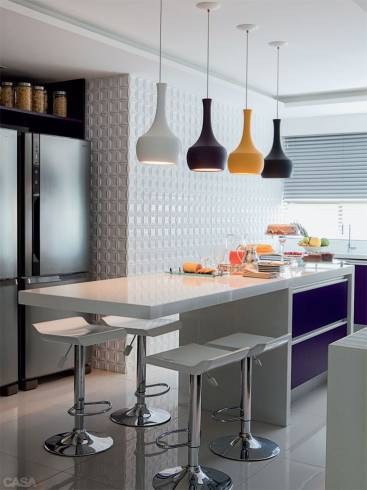Fotos de Pendentes coloridos para cozinha